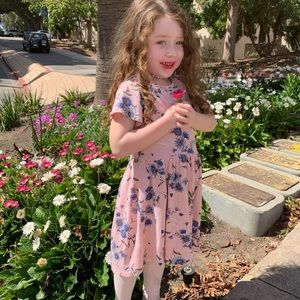 Old Navy Dresses - Beautiful pale pink with blue dress